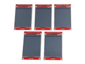 "BQLZR 5PCS LCD Touch Panel 240 x 320 2.8"""" SPI TFT Serial Port Module With PBC  ILI9341"