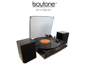 Boytone BT-14TBB-SP Multi RPM Turntable, Black