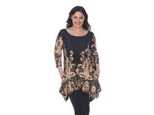 3f06679369e White Mark Women s Burgundy Plus Size Yanette Tunic Top