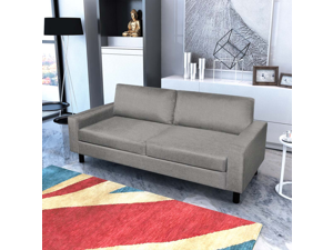 Living Room 3-Seater Sofa Couch - Light Gray