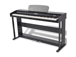 88-key Digital Piano with Pedals Black Melamine Board