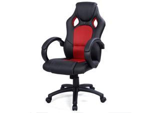 Desk Office Chair Race Car Style Bucket Seat - Red