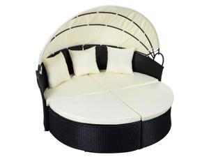 Outdoor Daybed Round Sofa - Black