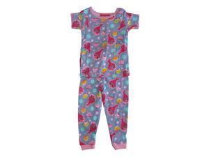 988386e3ee DreamWorks Little Girls Purple Trolls Print Long Sleeve 2 Pcs Pajama ...