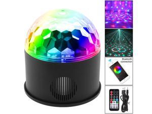 Bluetooth + Speaker 9W 9 Colors USB 5V LED Magic Ball Projector Stage Lights Support Wireless Phone Connection with Sound Control for Decoration / Car / Party