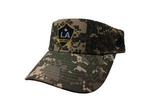 7f51b5f50a6ee Los Angeles Galaxy Adidas Digital Camo Adjustable Strapback Golf Visor Hat  Cap