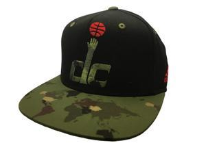 acc30aaa06366 Washington Wizards Adidas Black Camo Adj Structured Snapback Flat Bill Hat  Cap