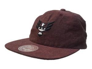 0d0bc60aa0e D.C. United Mitchell   Ness Maroon Slouch Flat Bill Painter Style Adjust Hat  Cap