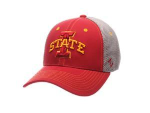 d11337479cd Iowa State Cyclones Zephyr Pregame Black Stretch Fit Structured Hat ...