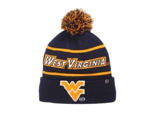 e9f0218d238 West Virginia Mountaineers Zephyr Bandit Knit Cuffed Poof Ball Beanie Cap  Hat
