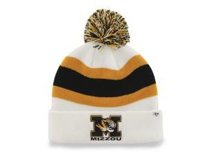 f13005b9194 Missouri Tigers 47 Brand White Gold Black Breakaway Knit Cuffed Beanie ...