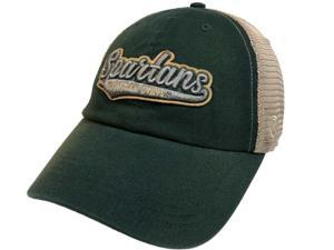 8727d01ea69 Michigan State Spartans TOW Green with Tan Mesh Adj. Snapback Slouch Hat Cap