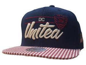 2756639abaa38 D.C. United Mitchell   Ness American Flag Adj. Structured Flat Bill Hat Cap