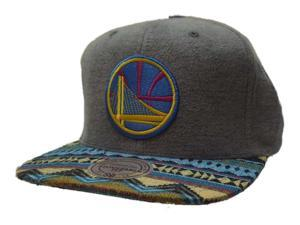 99c43477b8ced Golden State Warriors Mitchell   Ness Tribal Structured Flat Bill Snapback  Hat