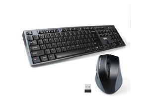 a03d1f81565 Wireless Keyboard and Mouse Combo, UHURU 2.4G USB Wireless Keyboard Mouse  for Smart TV