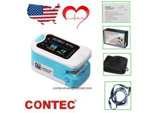 CONTEC Color OLED Finger Pulse Oximeter Fingertip Blood Oxygen Monitor SPO2 PR Heart Rate Meter with Pouch CMS50N