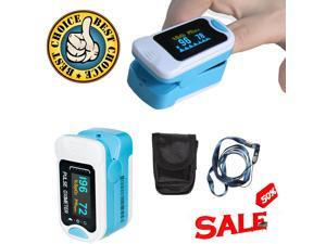 CMS50NA Finger Pulse Oximeter SpO2 PR Blood Oxygen Meter Heart Rate Monitor Free Pouch& Lanyard