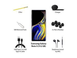 Samsung Note 9 Unlocked 512 GB Ocean Blue Galaxy Note9 512GB Smartphone