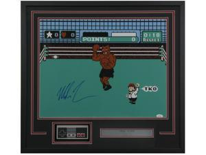 446662b0092 Mike Tyson Signed Framed Boxing 16x20 Punch Out ...
