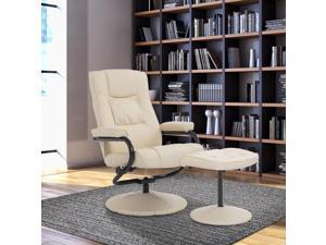 Homcom Contemporary Recliner Chair Ottoman Set