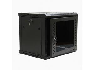 NavePoint 9U Wall Mount  Consumer Series Server Cabinet Network Enclosure Locks, Fan