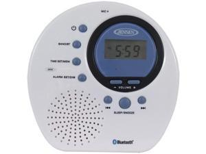 JENSEN JWM-160 Water-Resistant Digital AM/FM Bluetooth Shower Clock Radio