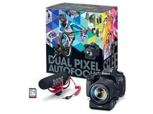 Canon EOS 80D DSLR Video Creator Kit w/18-135mm Lens, Rode Mic, 32GB Card