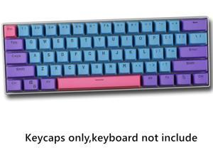 CORN 61 Key Layout OEM Profile PBT Thick Keycaps for 60% Mechanical Keyboard for RK61,GANSS ALT61,IKBC poker, Anne PRO,GH60, iqunix f60 Joker