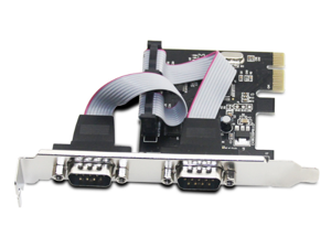 CORN PCI Expansion Card Adapter To 2-Port RS232 Serial PCIe