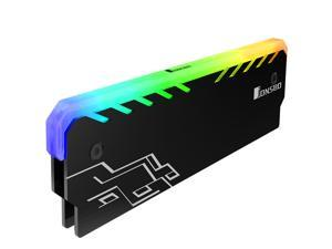 Jonsbo RGB Light Glow Effect Aluminum Alloy Desktop Memory RAM Heatspreader Cooling Shell