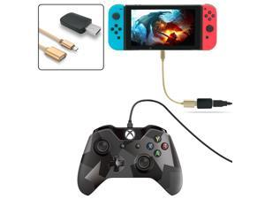 CORN Controller Converter for Nintendo Switch, Makes PS3/PS4 Dualshock/XBOX 360/XBOX ONE Controllers Compatible with Your Switch, Support Vibration, with Type-C OTG Cable