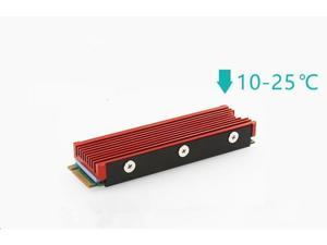 JEYI M.2 NVMe Heatsink for SM951 SM961 950PRO XP9410 M.2 SSD Cooling Heatsink - Red