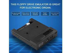 "3.5"" 1.44MB Upgrade Floppy Drive to USB Flash Disk Drive Emulator Black+CD Screws"