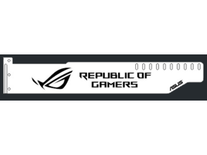 Corn Electronics Universal 11 Colors Remote Control LED Acrylic GPU Brace 11''   -  ROG