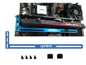 upHere Graphics Card GPU Brace Support Video Card Sag Holder/Holster Bracket, Anodized Aerospace Aluminum, Single or Dual Slot Cards- BLUE