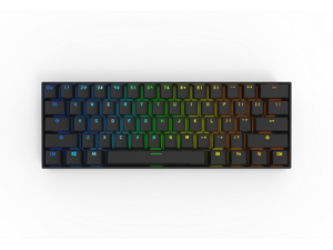 Anne Pro 2 Mechanical Keyboard 60% RGB Wired/ Wireless Bluetooth 4.0 PBT Type-c GATERON  Brown Switch