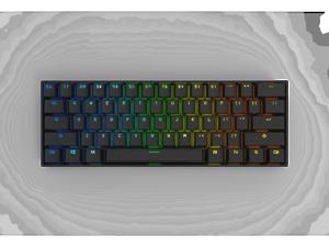 Anne Pro 2 Mechanical Keyboard 60% RGB Wired/ Wireless Bluetooth 4.0 PBT Type-c GATERON  Brown Switch