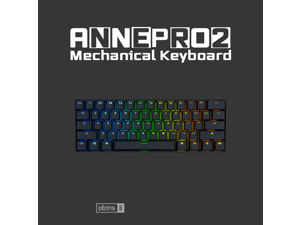 Anne Pro 2 Mechanical Keyboard 60% RGB Wired/ Wireless Bluetooth 4.0 PBT Type-c GATERON  Red Switch