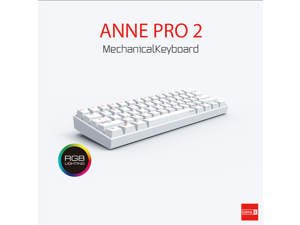 Anne Pro 2 Mechanical Keyboard 60% RGB Wired/ Wireless Bluetooth 4.0 PBT Type-c Blue Switch-White