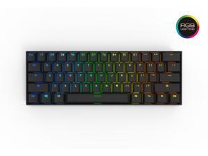 Anne Pro 2 Mechanical Keyboard 60% RGB Wired/ Wireless Bluetooth 4.0 PBT Type-c Cherry MX Blue-Black