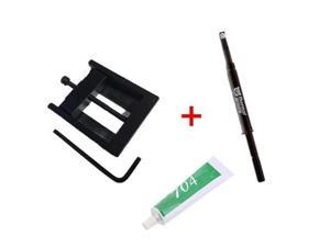 Thermal Grizzly Conductonaut Thermal Grease Paste - 1.0 Gram Model TG-C-001-R with CPU cap opener and 704 Silicon Rubber for 3770K 4790K 6700K E3-1230 7700K 8700K 115x interface CPU Decrimper