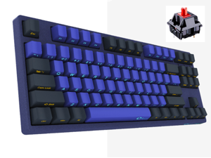Akko X Ducky 3087SP N-Key Rollover All Non-conflicting 87Keys,  Cherry MX Red Mechanical Gaming  Keyboard, Side-engraved Keycaps - Horizon Version