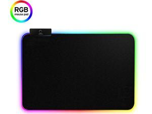 CORN RGB LED Gaming Mouse Pad - 13.7 x 10.3 x 0.4 inches - Lighting Computer Mice Mat, Mousepad for Gamers,14 Modes Cool Light Effect, Non-Slip Rubber Surface Optimized for All (360X260X3mm)