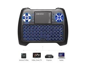 991836565b4 (2019 Latest, Backlit) ANEWISH 2.4GHz Mini Wireless Keyboard with Touchpad  Mouse Combo