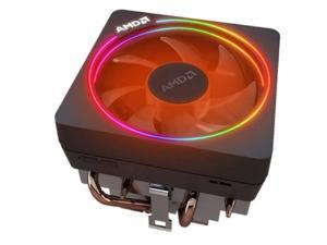AMD Wraith Prism RGB LED Lighting Socket AM4 4-Pin Connector CPU Cooler with Copper Core Base & Aluminum Heatsink & 4.13-Inch Fan