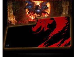 SHARKOON  Red Dragon Large and Thickening Gaming Mouse Pad --Brim Lock Design(900X400X3mm)