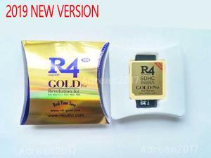 New R4I 2019 SDHC Dual Core Gold Pro Flash Card Adapter for DS DSI 2DS 3DS New3DS & All DS Consoles
