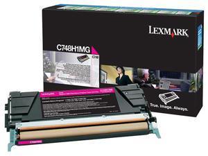 Lexmark C748 Magenta High Yield Return Program Toner Cartridge - Magenta - Laser - 10000 Page - 1 E