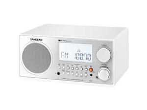 Sangean WR-2WH Digital AM-FM Wooden Cabinet Table-Top Radio