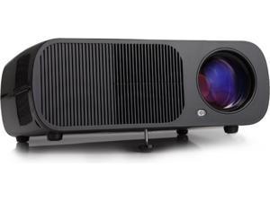 iRULU BL20 LED Portable Video Projector Home Theater - Black (VGA, USB, AV, HDMI)